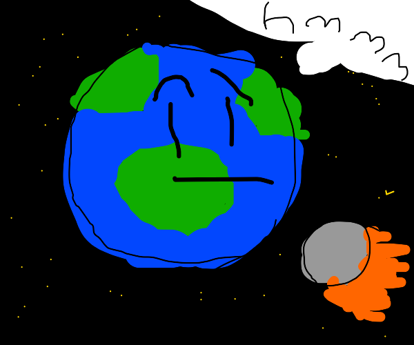 confused earth gets BLASTED by an asteroid