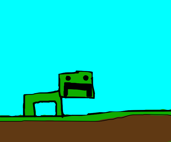 Creeper in the shape of a pig