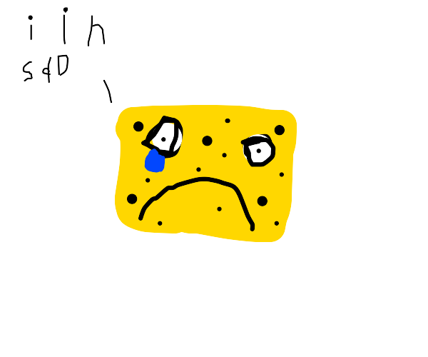sponge in sad