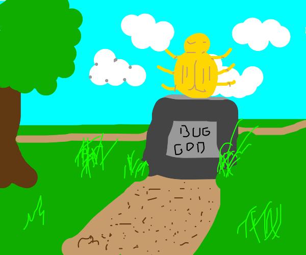 A shrine to a bug god
