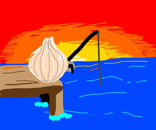 an onion fishing