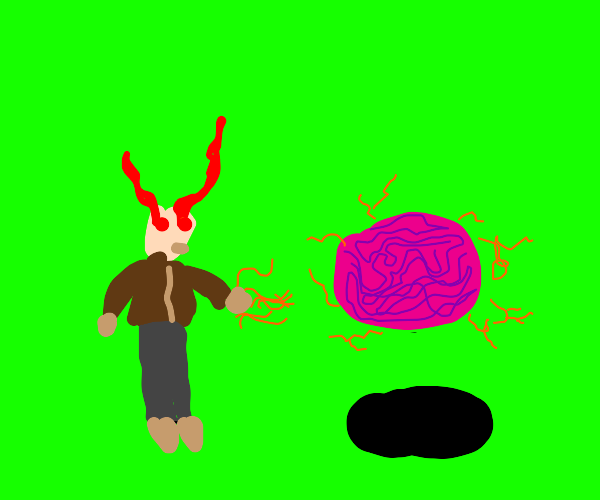 Puritan man summons a brain with witchcraft