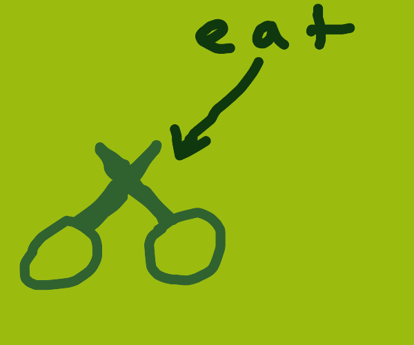 Eat the scissors