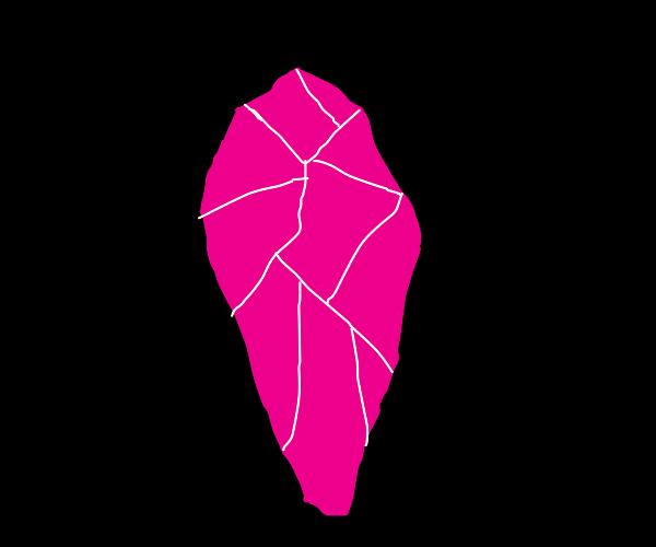Broken pink gem
