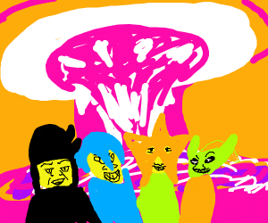 Me and the boys watch a nuclear explosion