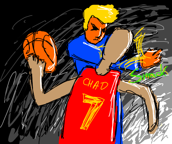 trump slaps generic basketball player