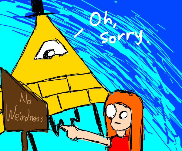Lady reads something to a giant dorito