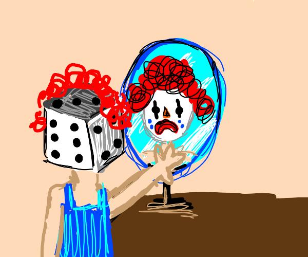 dice clown is infact, a clown