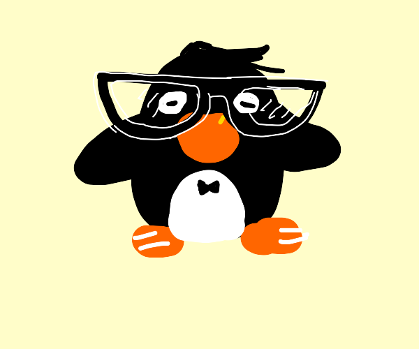 Penguin with Glasses