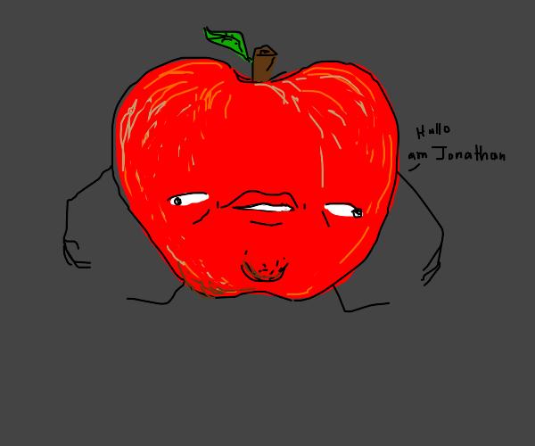 demented apple named jonathan