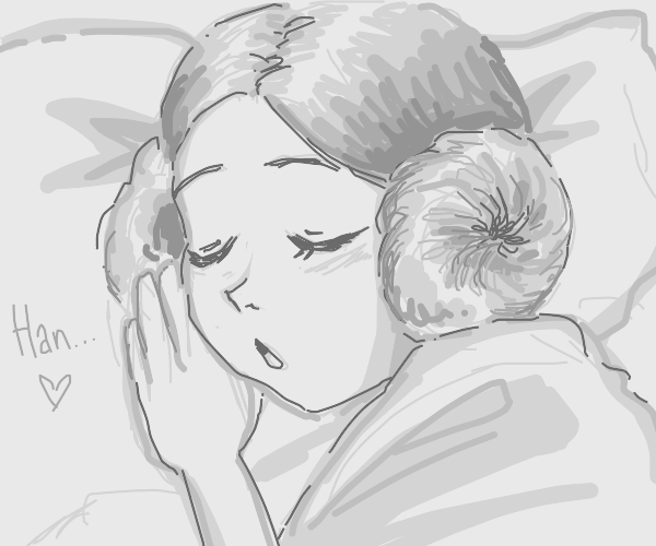 Princess Leia just hit snooze and went zzzz..