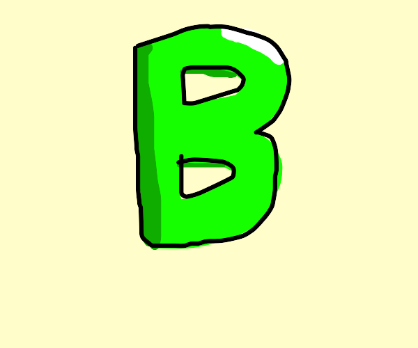 A Green Letter B