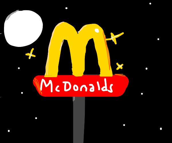 mcdonalds glowy sign