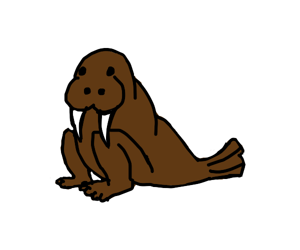Walrus with legs for arms