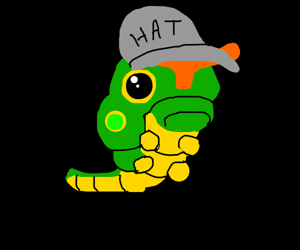 Caterpillar with a hat