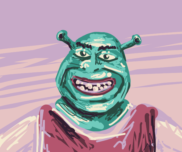 Shrek happy to see you