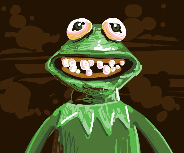 Kermit REALLY needs a dentist!!!
