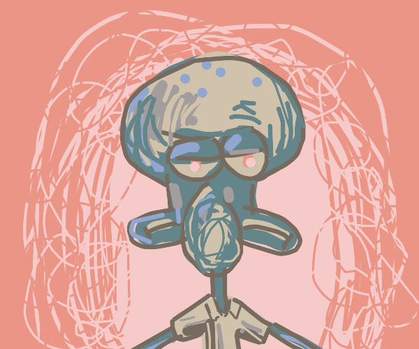 Grumpy cuttlefish neighbour from spongebob