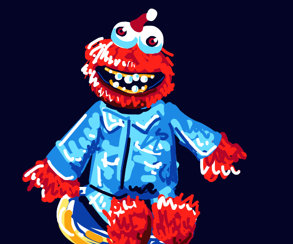Creepypasta Elmo in Pyjamas & Santa Hat