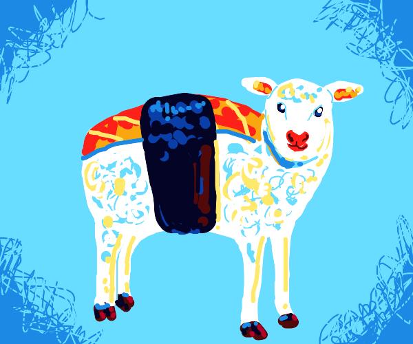 sushi but it's a lamb