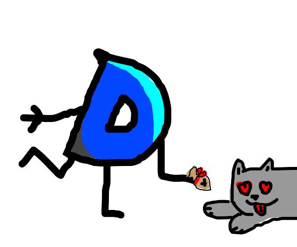 Drawcepion gives a cat a present