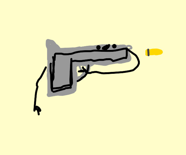Gun shooting itself