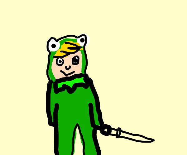 Link on a kermit onesie