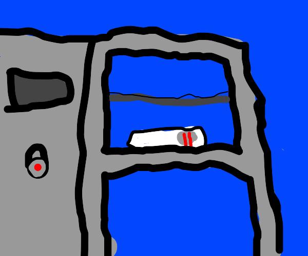 Hiding the positive pregnancy test in locker
