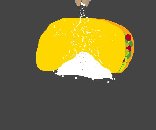 Taco with salt