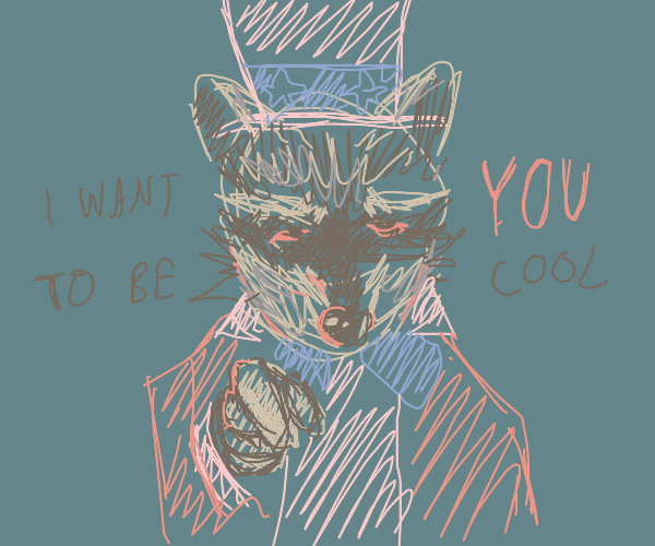Raccoon wants you to be cool