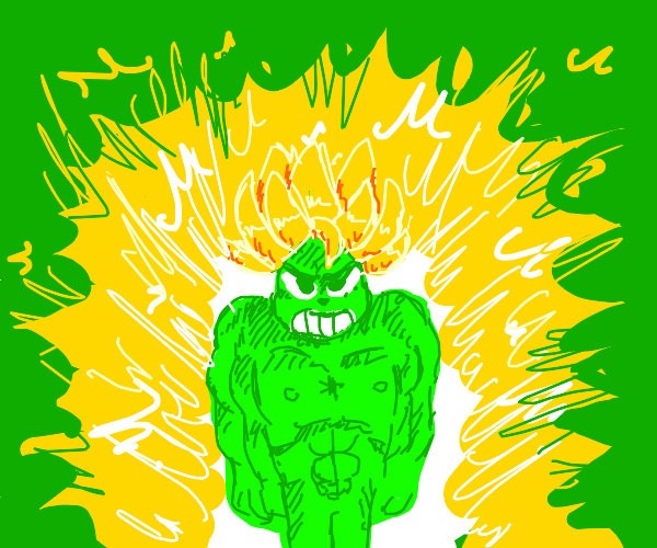 The Grinch went Super Saiyan