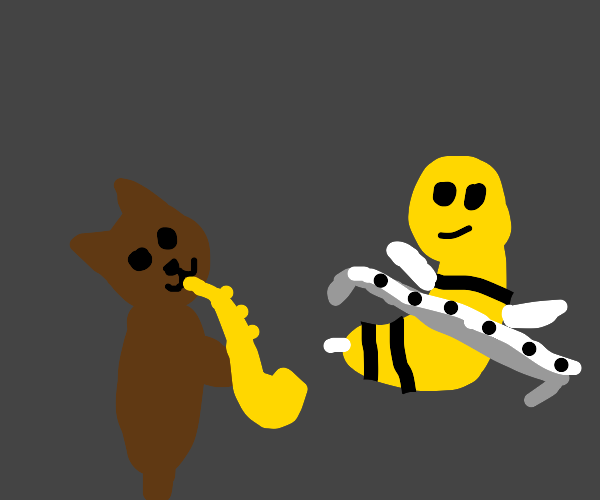 Jazz band but it's only a cat and wasp
