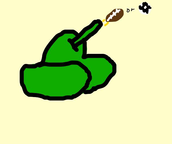 Tank playing football