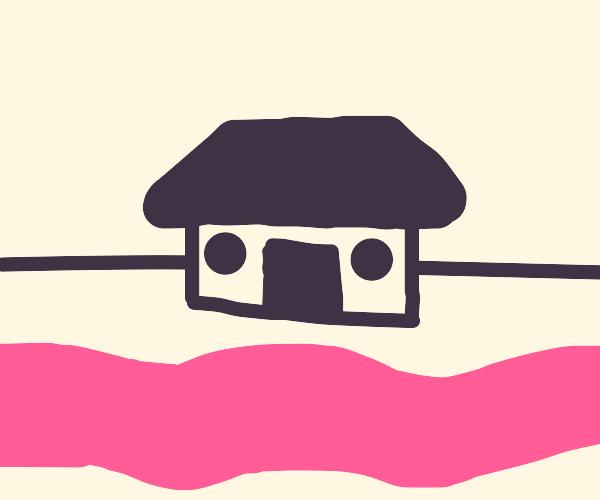 A lil house near bubblegum river.
