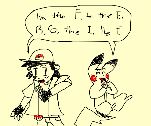 Ash & Pikachu sings Fergalicious karaoke
