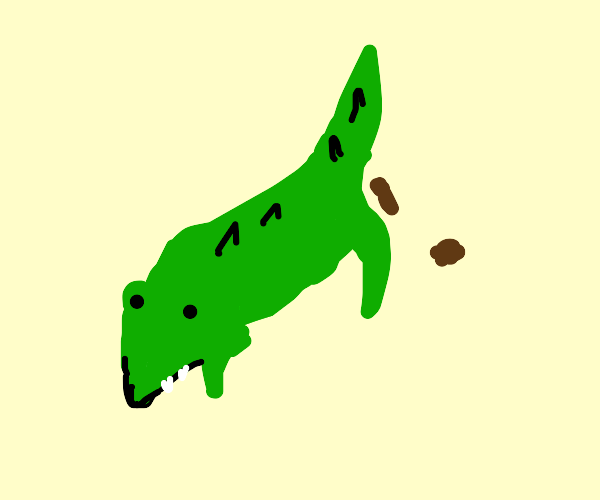 pet crocodile pooping