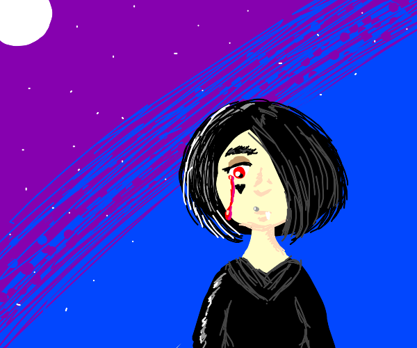 lonely vampire e-boy cries blood