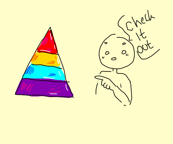 Check out this colorful triangle!