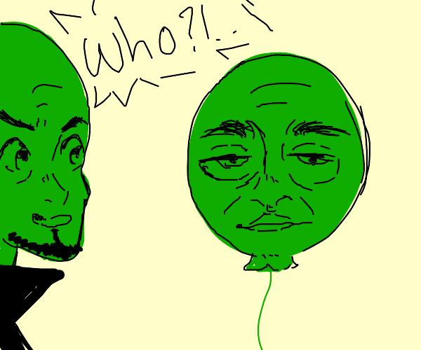 green megamind w/ green baloony(doofinshmirtz