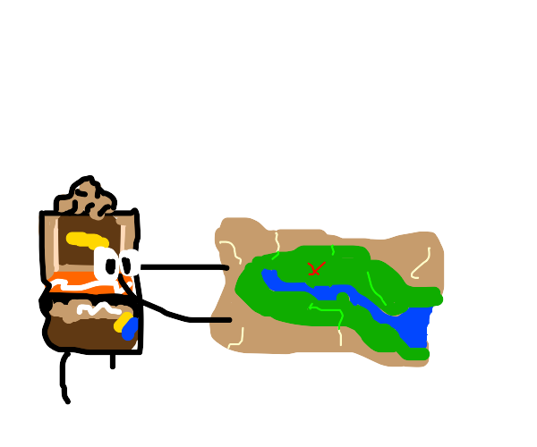 Bean looks at  treasure map what it gon find?