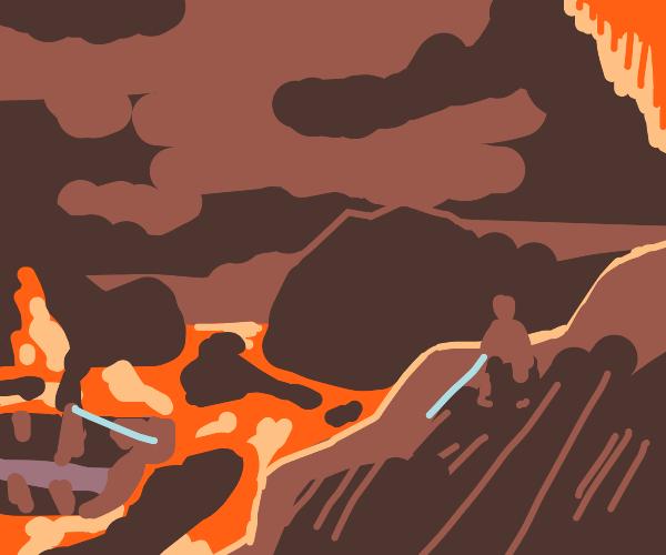That epic lightsaber lava fight;Ewan's ginger