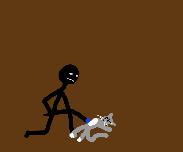Man revives dead cat with blue dot