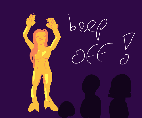 Sexy unclothed gold girl tells family beep of