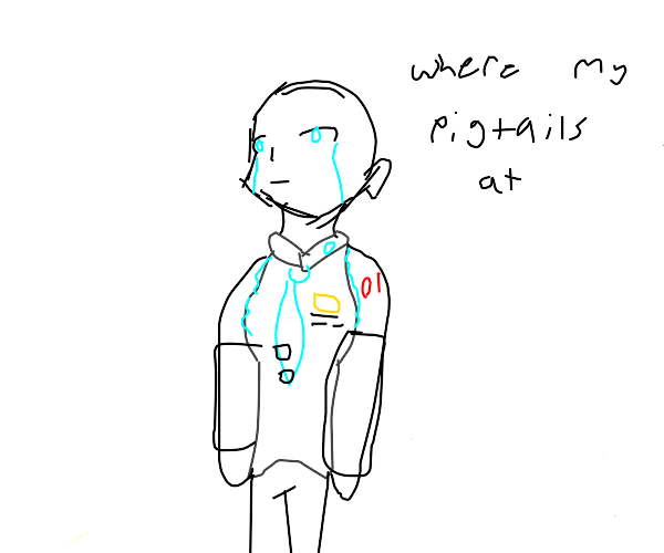 Sad bald Miku
