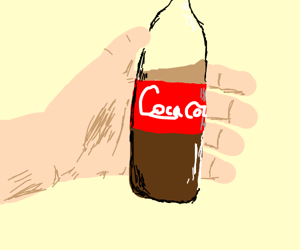 Handing out coke