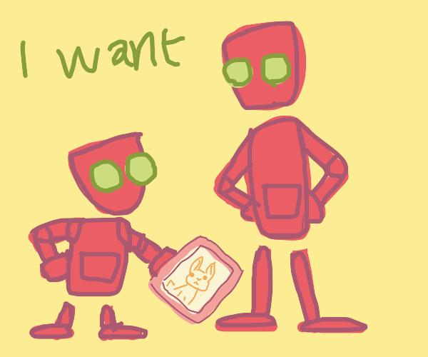 Robot demands to have a rabbit