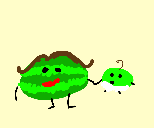 Watermelon mom and child