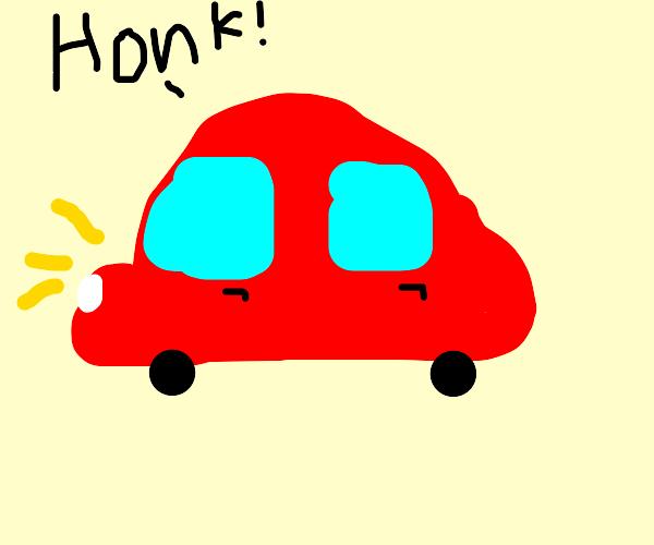 honking car