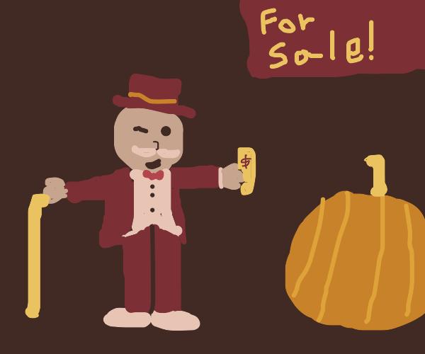 Mr. Monopoly buys a pumpkin