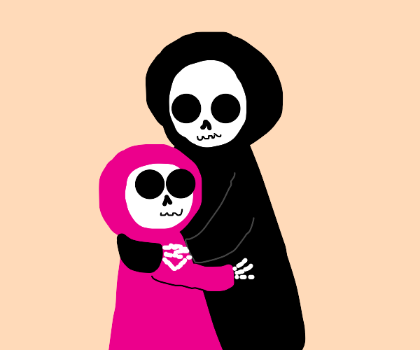 Death has a new daughter and they hug